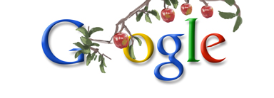 Google Doodle on Newton's birthday