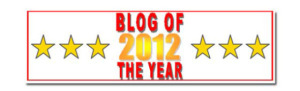 Blog of the Year 2012 and Reality Blog Award (1/3)