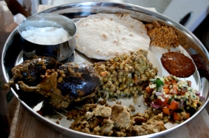 Jolada rotti with side dishes