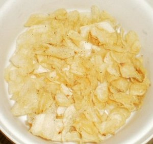 Crispy, Crunchy home-made potato chips