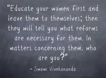 Educate your women First