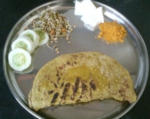 Hot bajra roti ready to eat :)