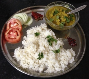 Serve the hot dal with some hot basmati rice, fresh salad and some hot-n-tangy chutney
